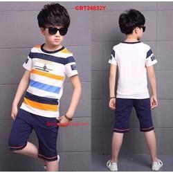 Size đại bộ bé trai sọc kẻ cá tính từ 9-14Tuổi_CBT24832