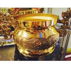 Lư thờ cúng Phật Sen Quai Rồng