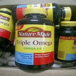Viên uống bổ sung Triple OMG 3-6-9 Nature Made 150 viên