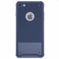 Ốp lưng Silicon cao cấp chống va đập Baseus dành cho Iphone 7 Xanh Đen