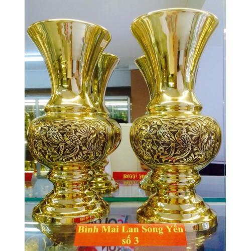 Bình thờ cúng Mai Lan Song Yến số 3 - Cao 29cm x Rộng 13cm