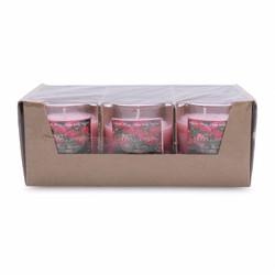Hộp 6 ly nến thơm votives hương hoa hồng Miss Candle  NQM0413 Hồng