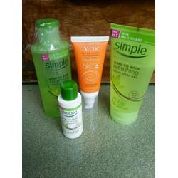 bộ sản phẩm chăm sóc và bảo vệ da nhạy cảm