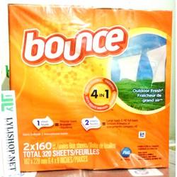 Giấy Thơm Quần Áo Bounce Renewing Freshness Của Mỹ hộp 160 tờ