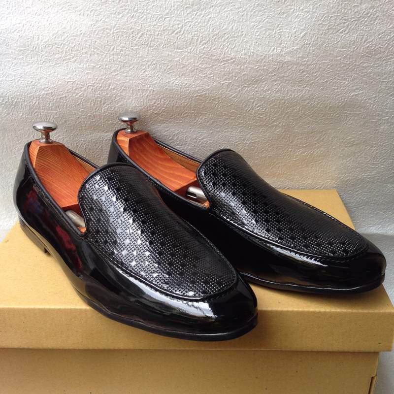 Giày tây nam hàn quốc họa tiết kiểu mới thời trang đẹp giá rẻ 2
