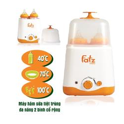 Máy hâm sữa,tiệt trùng Fatz 2 bình