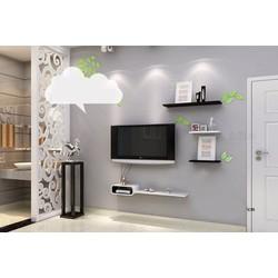 Kệ treo tường phòng khách mẫu kệ tivi TV03