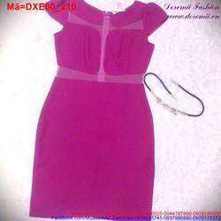 Đầm xòe tay con hồng cánh sen thiết kế trẻ trung DXE60