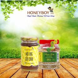 Mật Ong Sữa Chúa Honeyboy 100ml và Phấn Hoa 100g