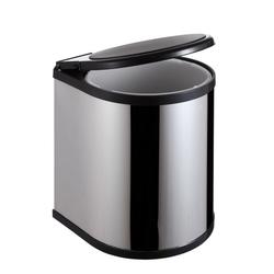 Thùng rác INOX nắp xoay tủ bếp ECO B02 14L