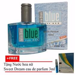 Nước hoa nữ Jolie Dion Blue Her 60ml + Nước hoa nữ Sweet Dream 3ml