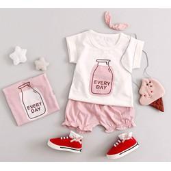 set áo trắng quần hồng