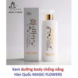 Kem dưỡng body chống nắng  Hàn Quốc MAGIC FLOWERS spf 50 pa+++