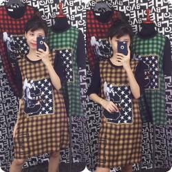 Đầm suông cao cấp Hàn Quốc