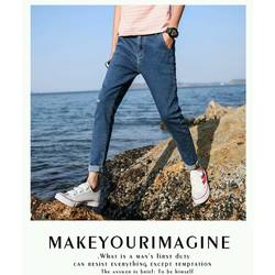 Quần Jean nam màu sắc trẻ trung phong cách Âu Mỹ hàng đảm bảo như hình