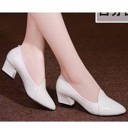 giày gót vuông 6cm HQ cao cấp