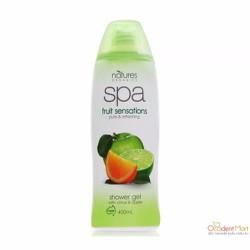 Gel tắm tẩy tế bào chết dưỡng ẩm Natures Organics Spa 400ml