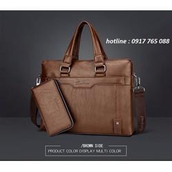 Bộ túi ví xách tay bằng da lịch lãm