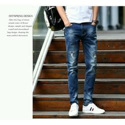 Quần Jean nam thiết kế mới phong cách Âu Mỹ hàng đảm bảo giống hình