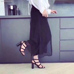 giày gót vuông rọ