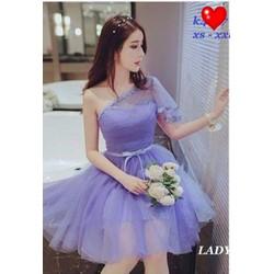 Đầm xòe công chúa phối ren - A26336