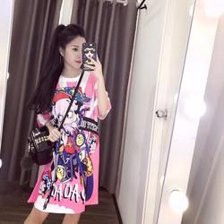 Đầm hoạ tiết hoạt hình