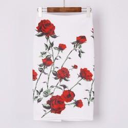 Chân váy bút chì in hoa