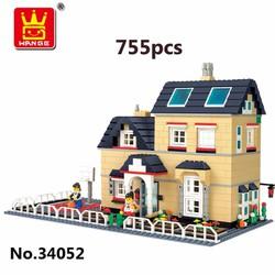 Bộ lego xếp hình Wange biệt thự nhà vườn mẫu 2