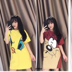 Đầm  thun hoạt hình