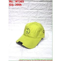 Nón kết nam nữ vải logo nhựa NK sành điệu trẻ trung NT365