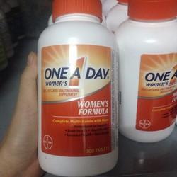Mẫu mới - Vitamin tổng hợp One A Day Bayer Nữ dưới 50 tuổi 330 viên Mỹ