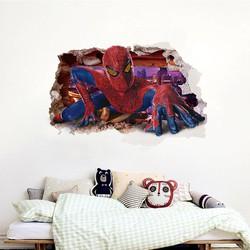 Tranh dán tường 3D - người nhện TDT0040
