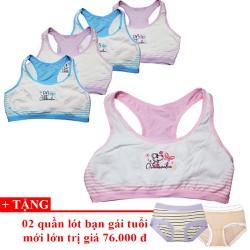 Bộ 5 áo lá- áo lót teen Thái Lan MS03