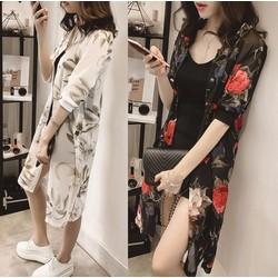 Áo khoác giả Kimono họa tiết