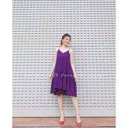 Đầm Maxi Voan Phối Ren Cực Đẹp