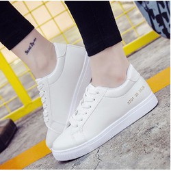 Giày thể thao trắng da cao cấp