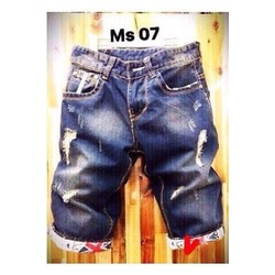 QUẦN SHORT JEANS NAM  RÁCH XƯỚC XĂN LAI SO HIT