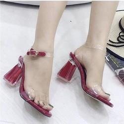 giày gót vuông quai trong gót trong