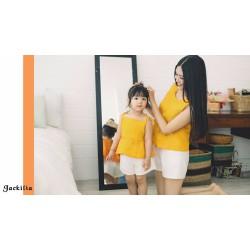 set áo quần shortr cho mẹ và bé