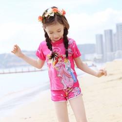 Bộ bơi cộc 4 công chúa màu hồng 2 đến 8 tuổi