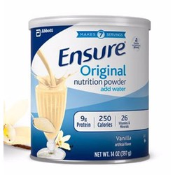 Sữa bột Ensure Powder Vanilla 397g từ Mỹ bổ sung vi chất