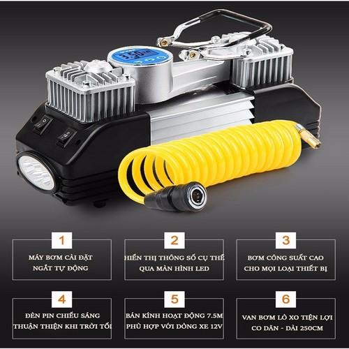 Máy bơm lốp xe ô tô điện tử đa năng và bộ phụ kiện chăm sóc lốp xe - 7803626 , 6132602 , 15_6132602 , 1420000 , May-bom-lop-xe-o-to-dien-tu-da-nang-va-bo-phu-kien-cham-soc-lop-xe-15_6132602 , sendo.vn , Máy bơm lốp xe ô tô điện tử đa năng và bộ phụ kiện chăm sóc lốp xe