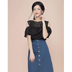 Áo Lucy ren đen