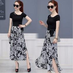 Set áo và quần ống rộng giả váy - C062210