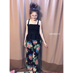 Set áo 2 dây nhúng quần hoa hàng thiết kế! MS: S260608 Gs: 115K