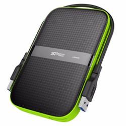 Ổ cứng Silicon Power Armor A60 1TB 3.0 chống sốc  - Đen viền xanh lá
