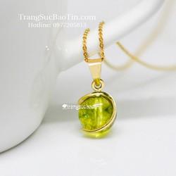 Dây Chuyền Nữ 10K Mặt Đá olivin