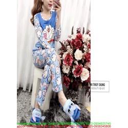 Đồ bộ nữ mặc nhà dài tay hình doremon dễ thương NN452