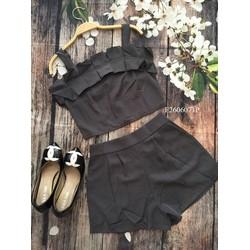Set áo 2 dây bèo quần short hàng thiết kế! MS: S260616 Gs: 170k