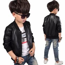 Áo khoác da cao cấp bé trai cực đẹp 4-6 tuổi